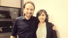 Pablo Iglesias y Dina Bousselham.