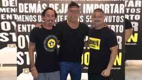 J. G., propietario del gimnasio Brooklyn en Marbella (izquierda).