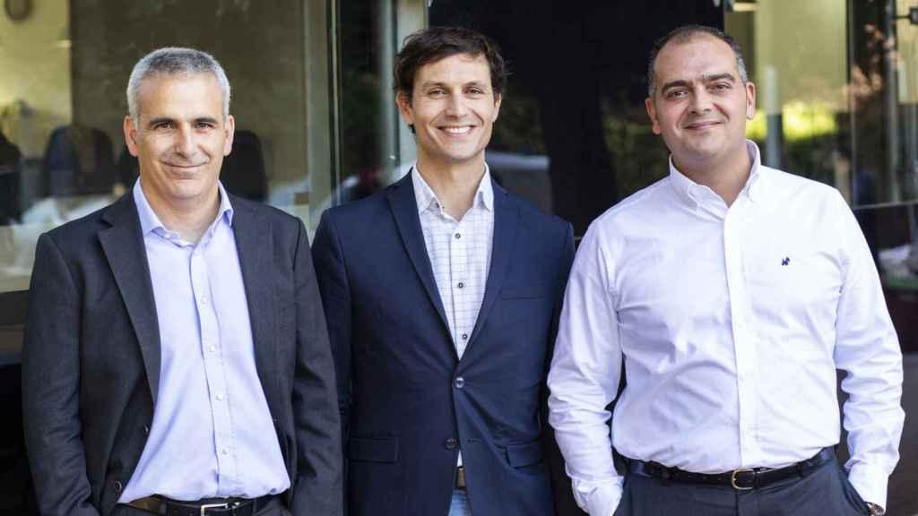 Jorge Siero, Álvaro Menéndez y Pedro Perelló, responsables de Fintup.