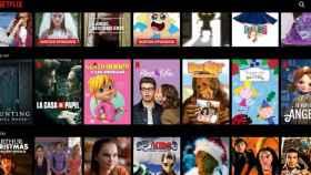 Portadas de algunas de las series de Netflix.