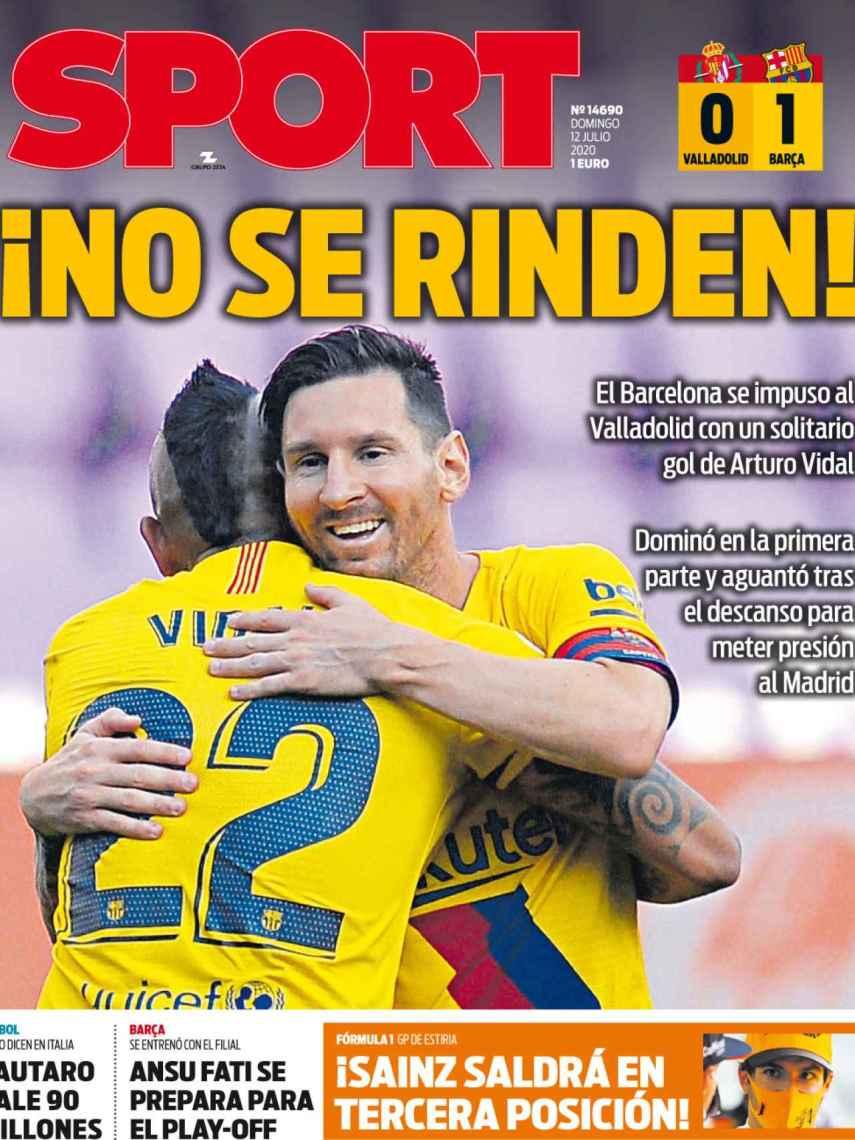 La portada del diario SPORT (12/07/2020)