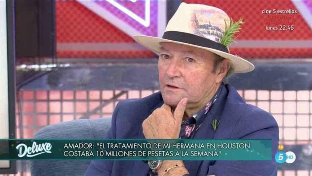 Amador durante la entrevista en 'Sábado Deluxe'.