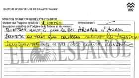 Página del informe de apertura de la cuenta de Lucum con la mención a la donación del rey saudí.