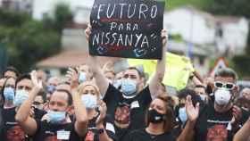 Manifestación de los trabajadores de Nissan.