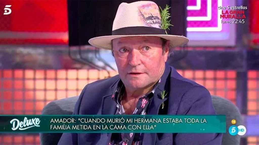 Amador Mohedano durante su entrevista en 'Sábado Deluxe'.