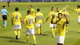 El Cádiz celebra un gol en Segunda División