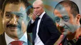 Mohamed Ayachi Ajroudi, Zinedine Zidane y Mourad Boudjellal
