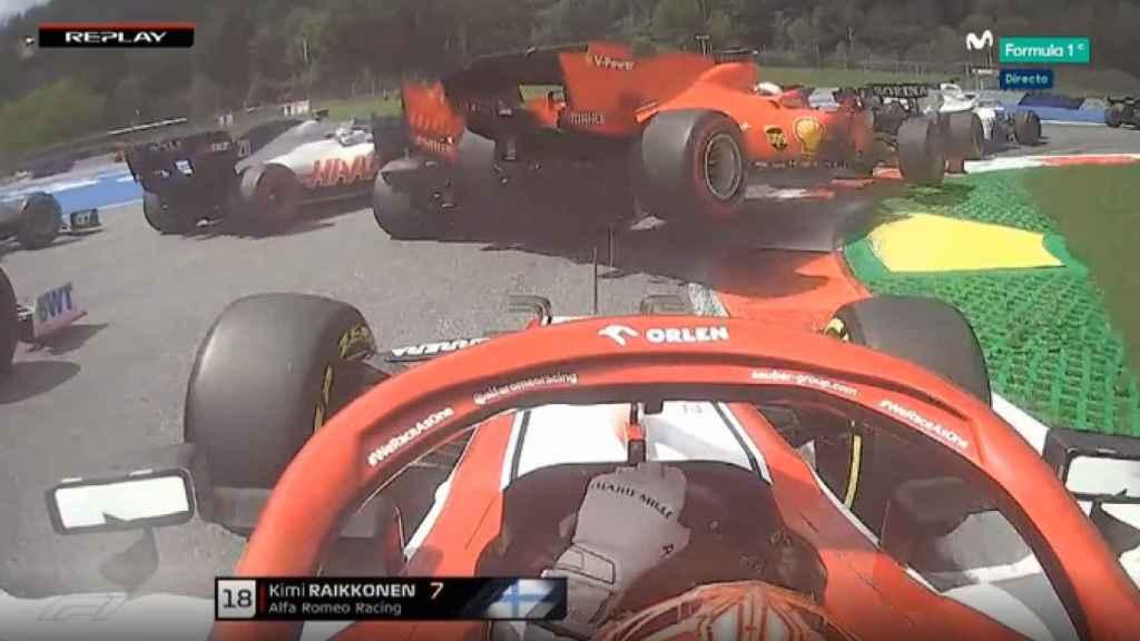 Leclerc arrolla a Vettel en la tercera curva del GP de Estiria