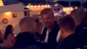 Erling Haaland, en el momento en el que le echan de la discoteca