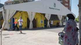 Hospital de campaña en Lérida