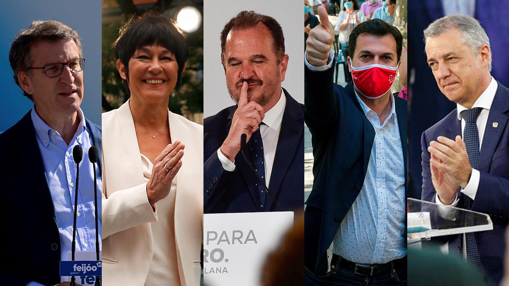 Ganadores y perdedores de las elecciones en Galicia y País Vasco.
