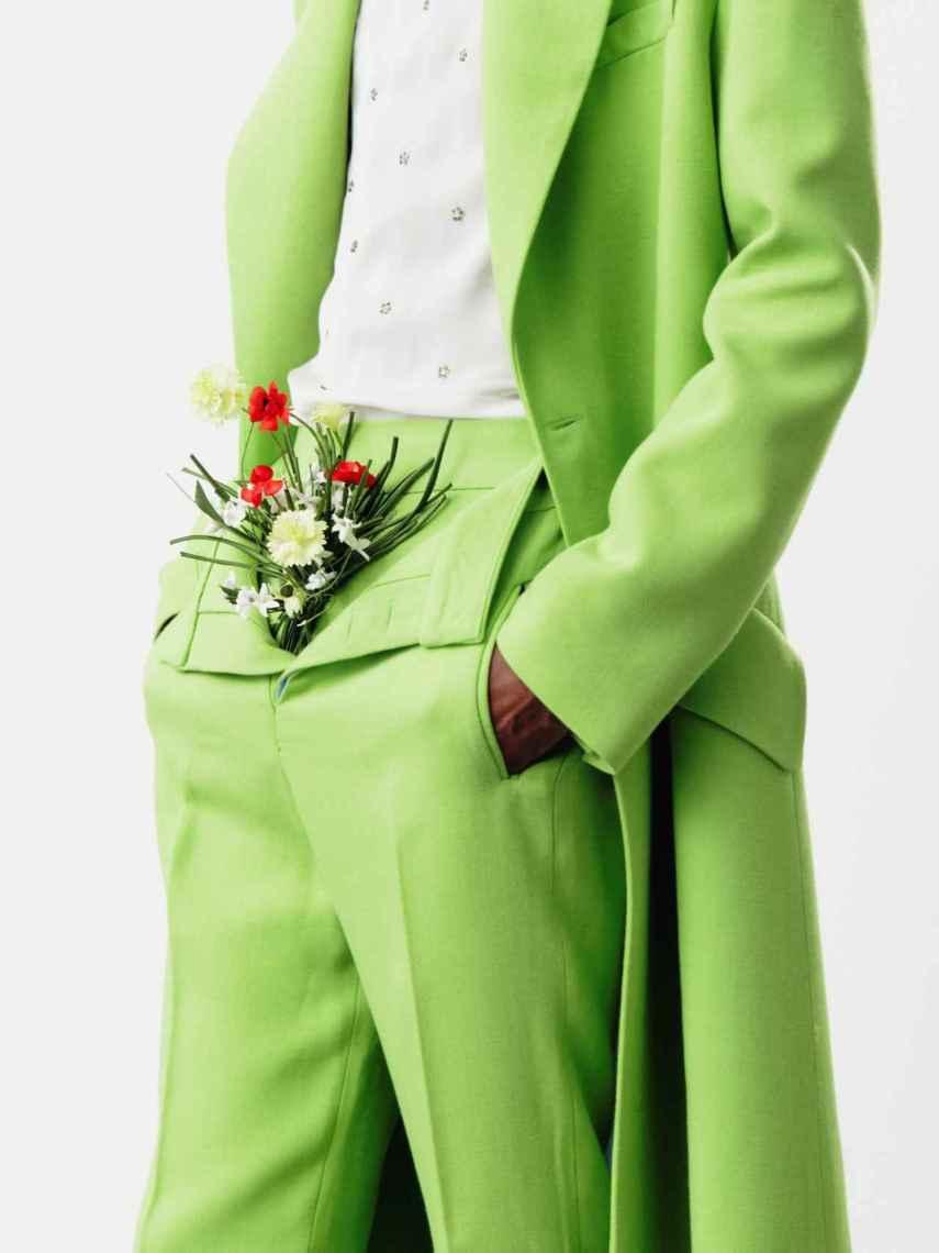 El verde manzana es uno de los colores más presentes en su colección.