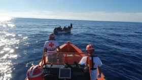 El rescate de migrantes en una imagen de archivo.