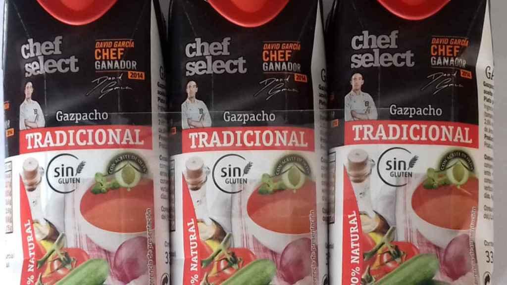 Gazpacho de la marca blanca Chef Select, comerciado por Lidl.