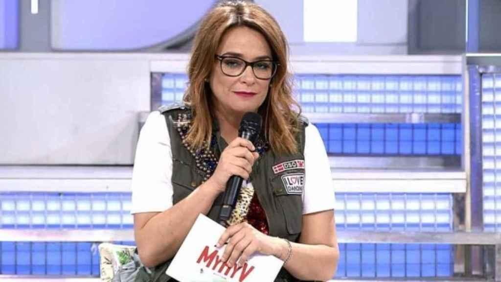 Toñi Moreno durante la presentación de un programa de 'Mujeres y Hombres y Viceversa'.