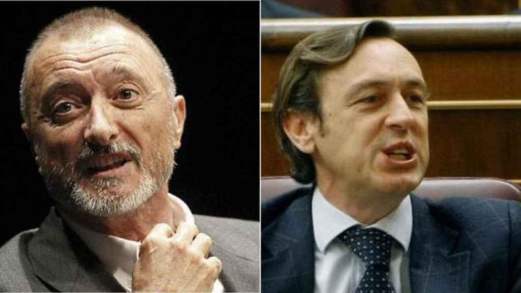 Pérez-Reverte y Rafael Hernando en un fotomontaje.