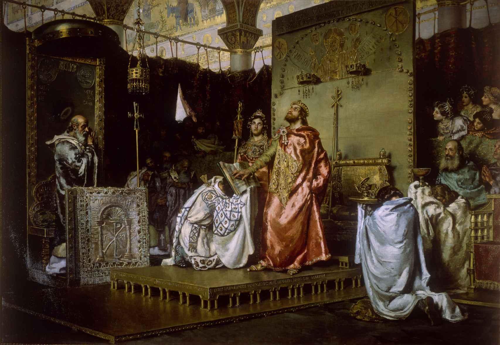 'La conversión de Recaredo', cuadro pintado por Antonio Muñoz Degrain en 1888.
