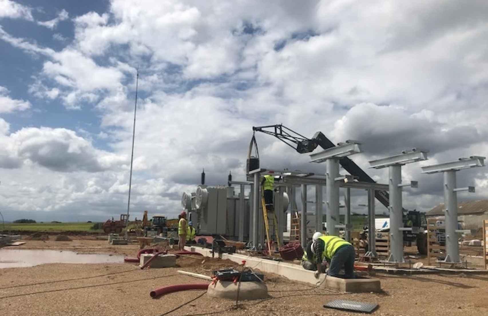 Construcción de un parque fotovoltaico. Ibox Energy