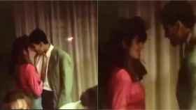 Pep Guardiola bailando con la pareja de Bakero