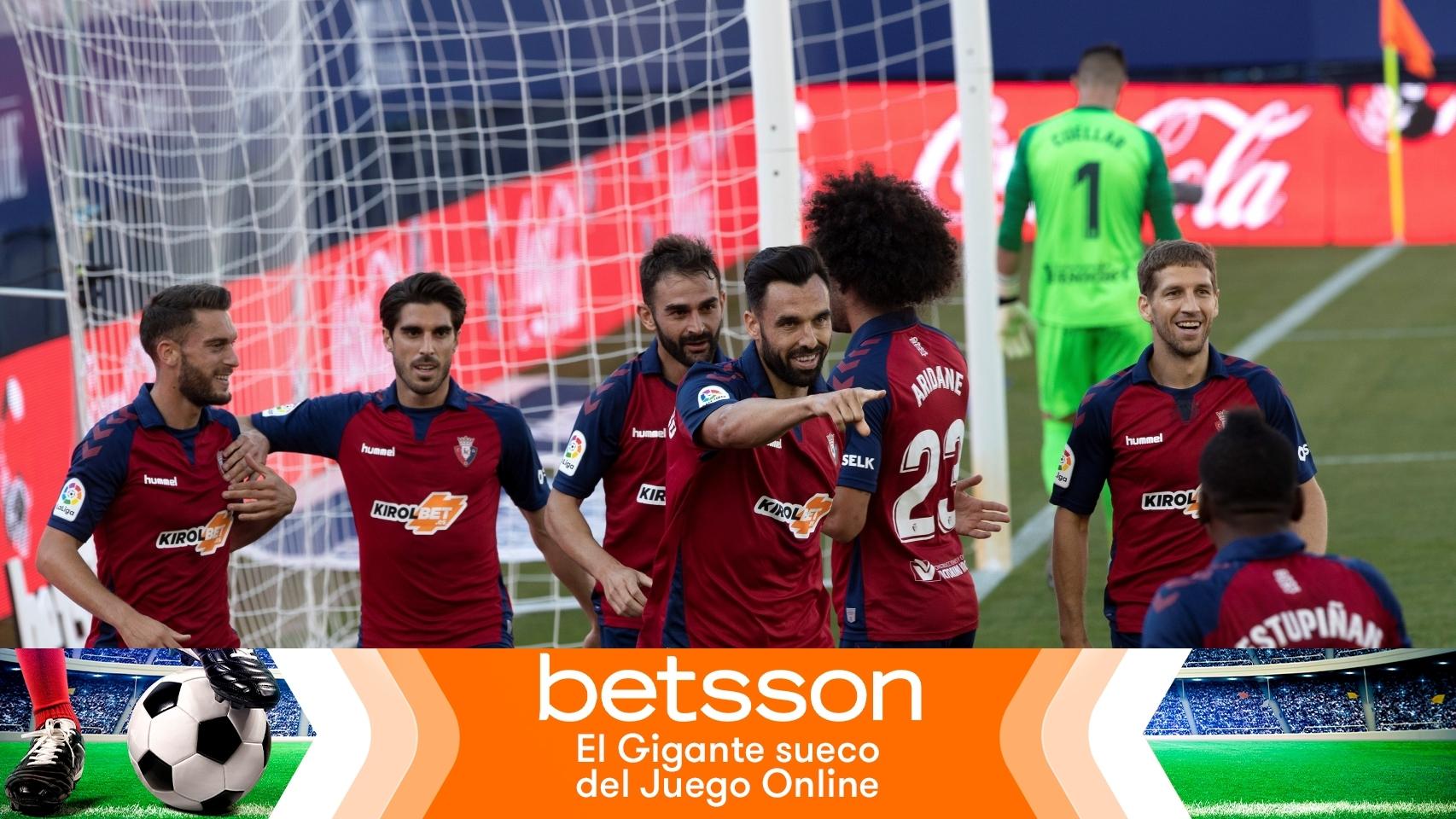 Los jugadores de Osasuna celebran un gol en La Liga