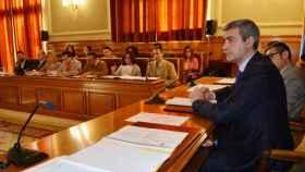 Álvaro Gutiérrez, presidente de la Diputación de Toledo, en un pleno de este año de la institución provincial. Imagen de archivo