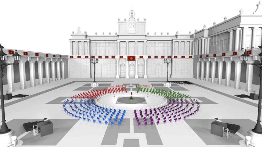 El Palacio real será escenario del homenaje de Estado a las víctimas del Covid-19.