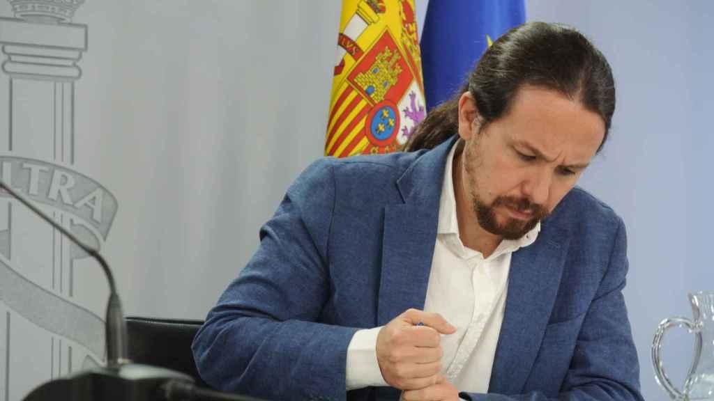 Pablo Iglesias, vicepresidente segundo del Gobierno, en Moncloa.