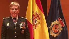 Marisol Conde, cuando fue ascendida a comisaria.