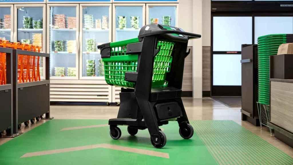 El Amazon Dash Cart es un carro de la compra que sabe lo que estamos comprando