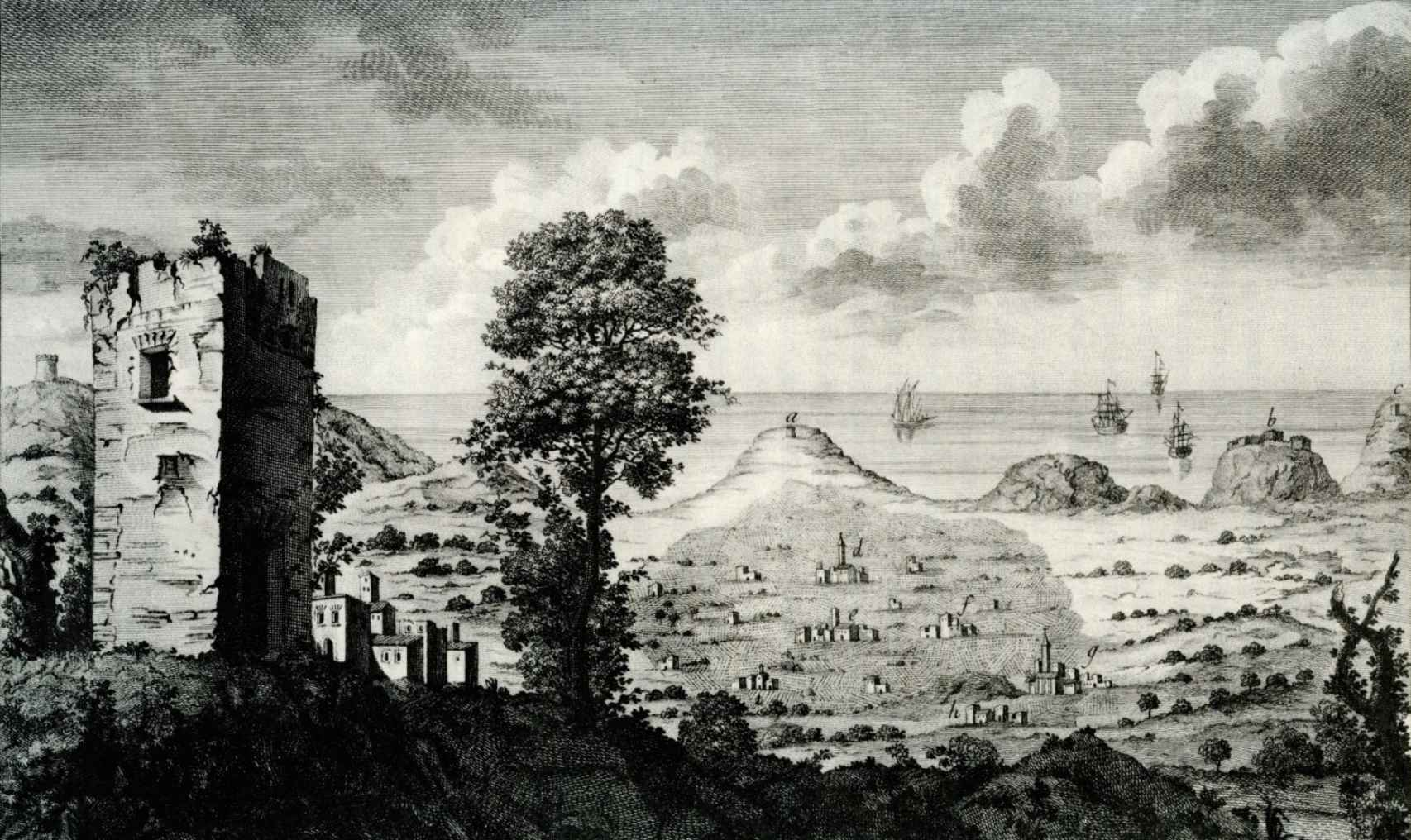 Vista de la huerta de Alicante según Cavanilles.