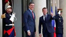 Sánchez, junto a Macron durante su visita al Elíseo este miércoles.