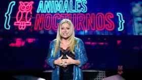 Cristina Tárrega en el estreno del programa 'Animales Nocturnos'.