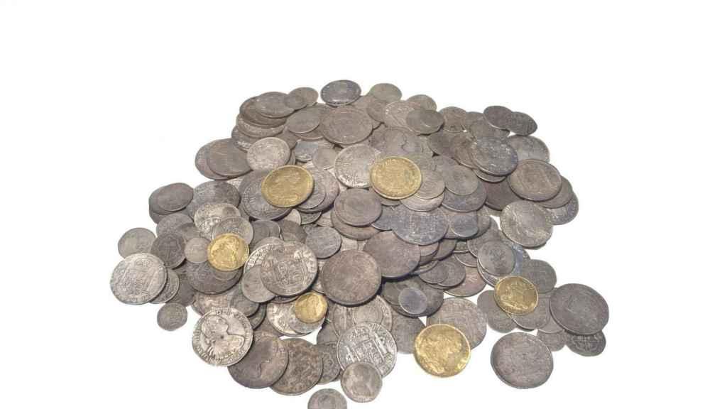 Monedas del Tesoro de Sant Joan d'Alacant.
