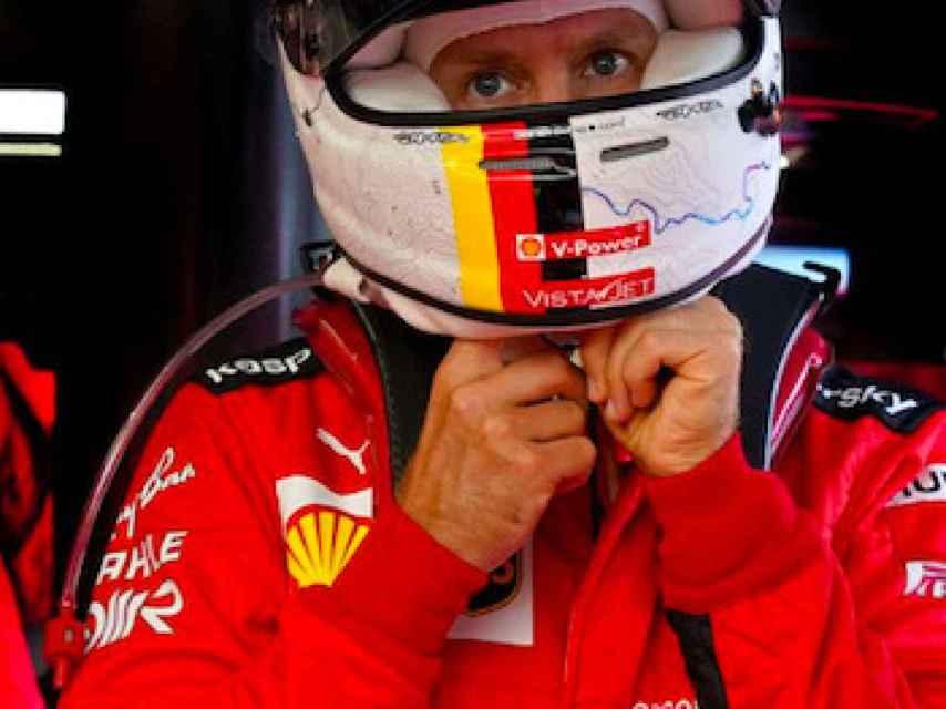 Sebastian Vettel con Ferrari