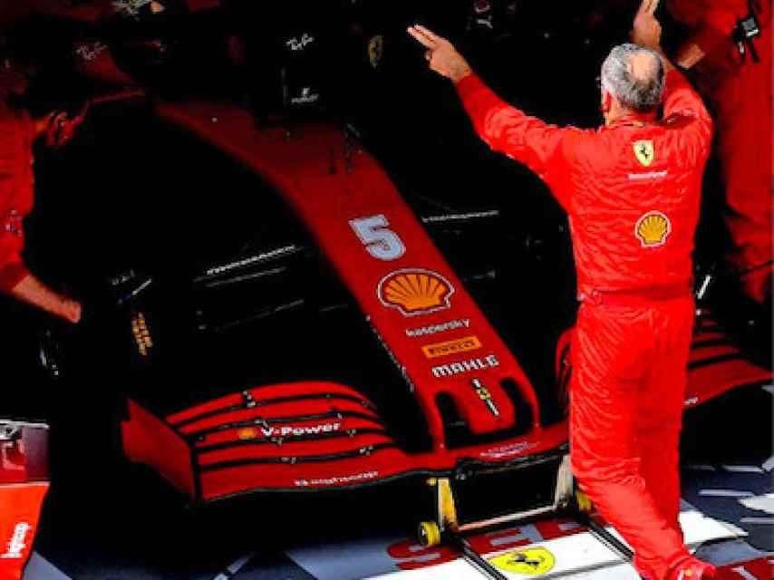 El coche de Vettel en Ferrari