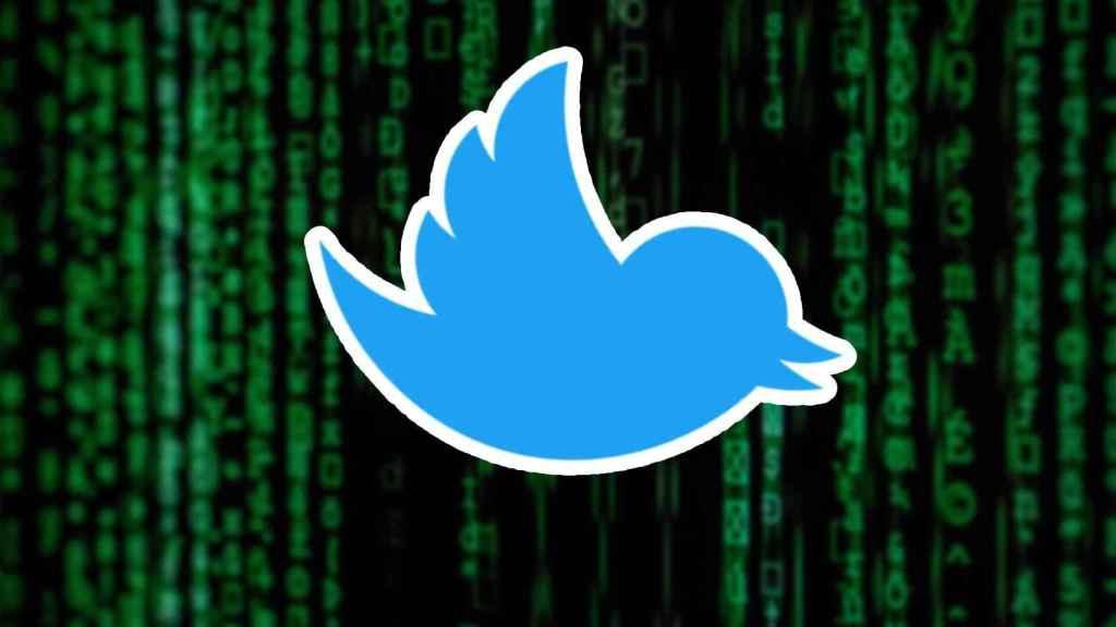 Logo de Twitter hackeado