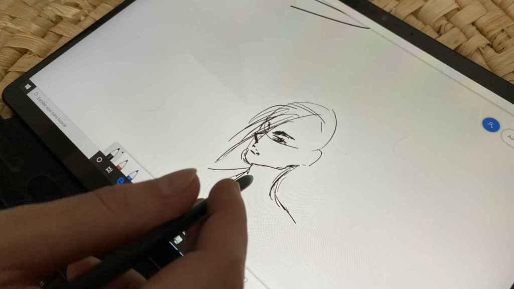 La gente con talento podrá sacarle todo el partido al lápiz de la Surface Pro X