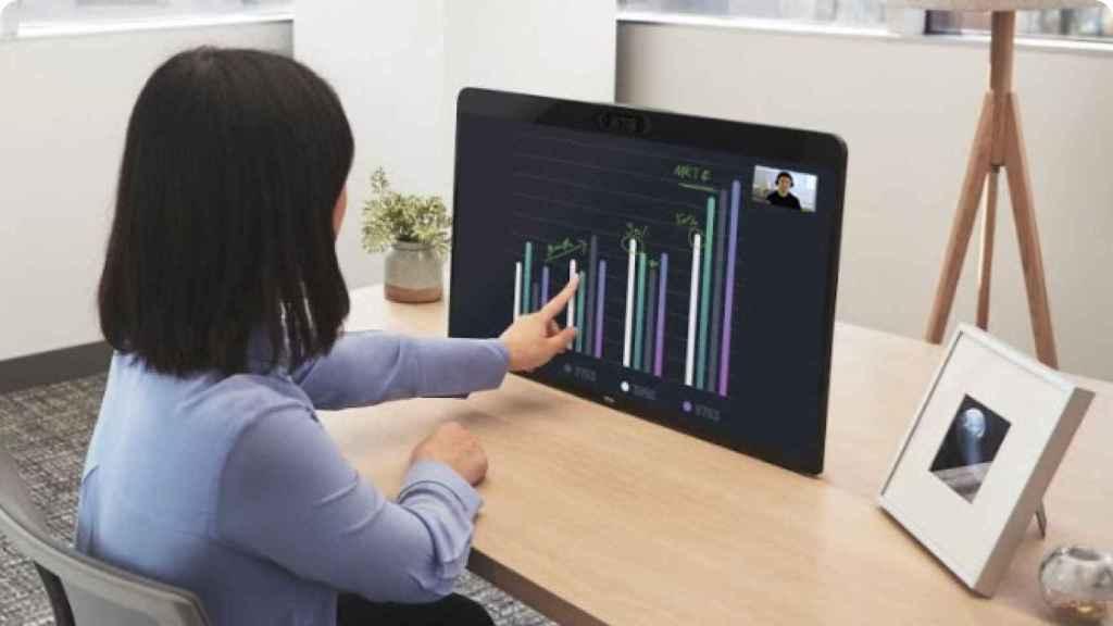 La pantalla de Zoom permite realizar videoconferencias en casa