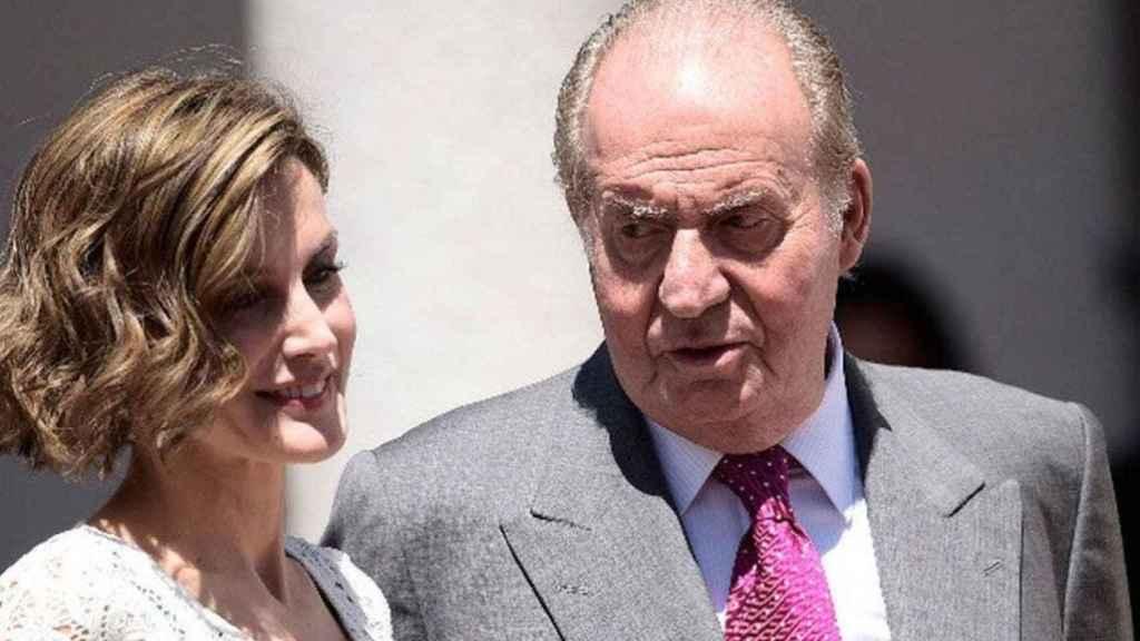 Letizia y Juan Carlos I.