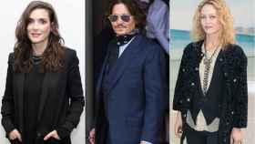 Winona Ryder, Vanessa Paradis y Johnny Depp en un montaje de JALEOS.