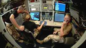 Oficina de inteligencia a bordo de un avión espía
