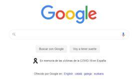 Google con crespón negro
