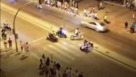 Imágenes de las carreras ilegales en Jerez.