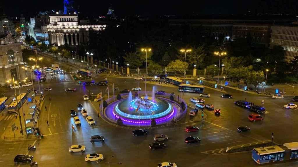 La imagen de la plaza de la Cibeles con los colores del Real Madrid por el título de La Liga