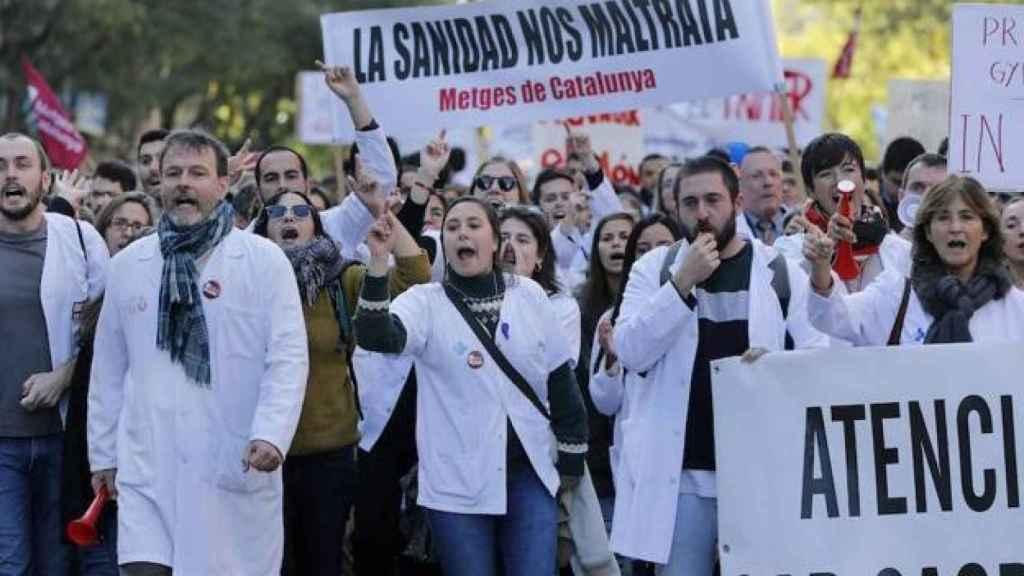 Una huelga de médicos.