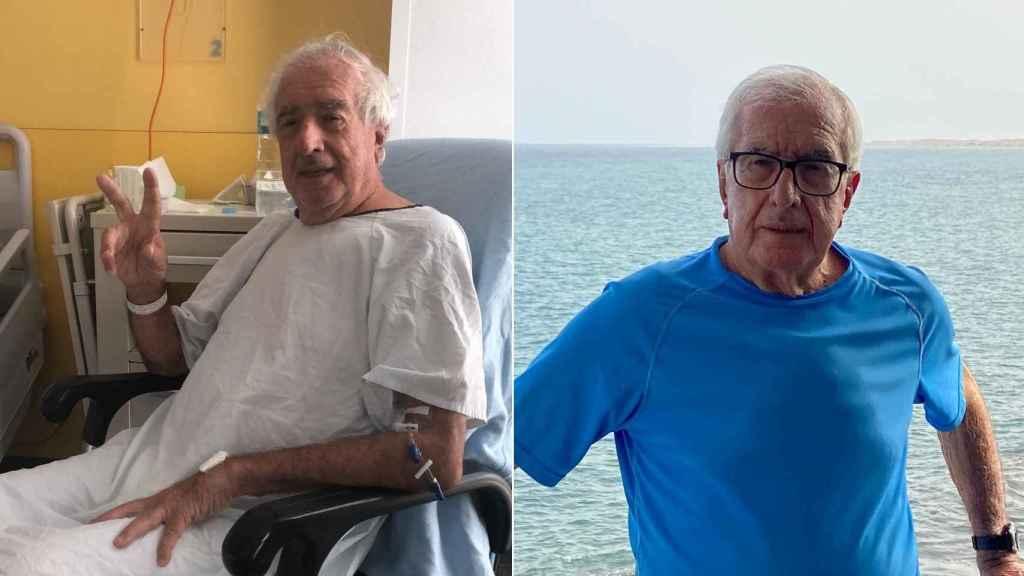 Vicente González; en el hospital y ahora.