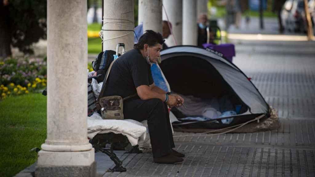 En varios puntos de Cádiz hay asentamientos de personas sin hogar.