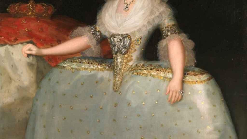 'La reina María Luisa con tontillo', un lienzo de Goya.