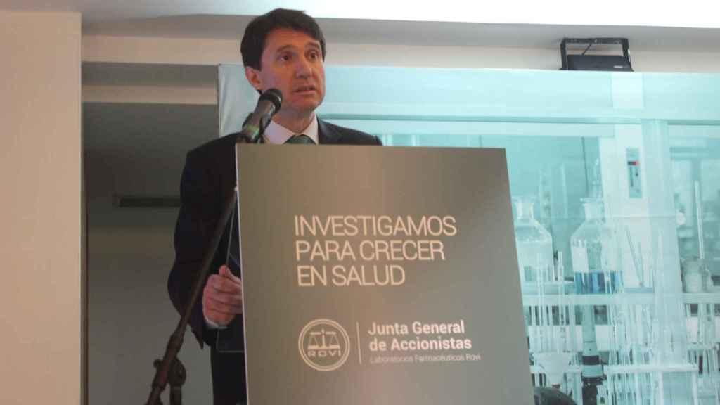 Juan López-Belmonte Encina, CEO de Rovi, durante una intervención.