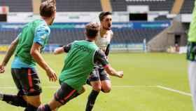 El Leeds celebra un gol